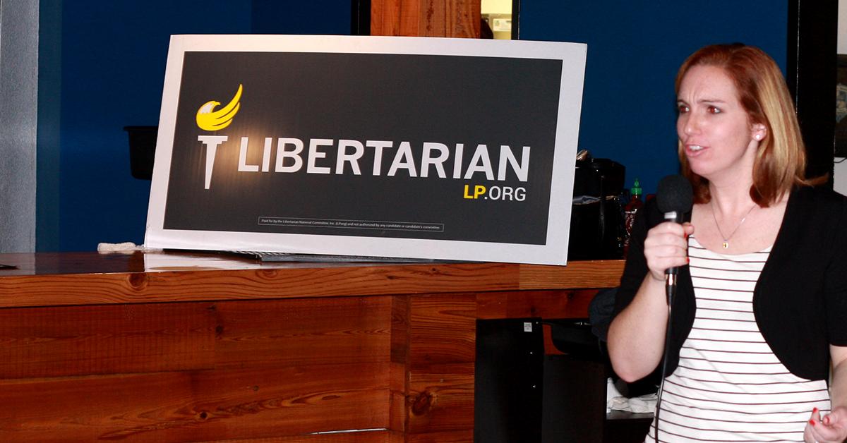 Betsy McCorkle addresses Wake Libertarians