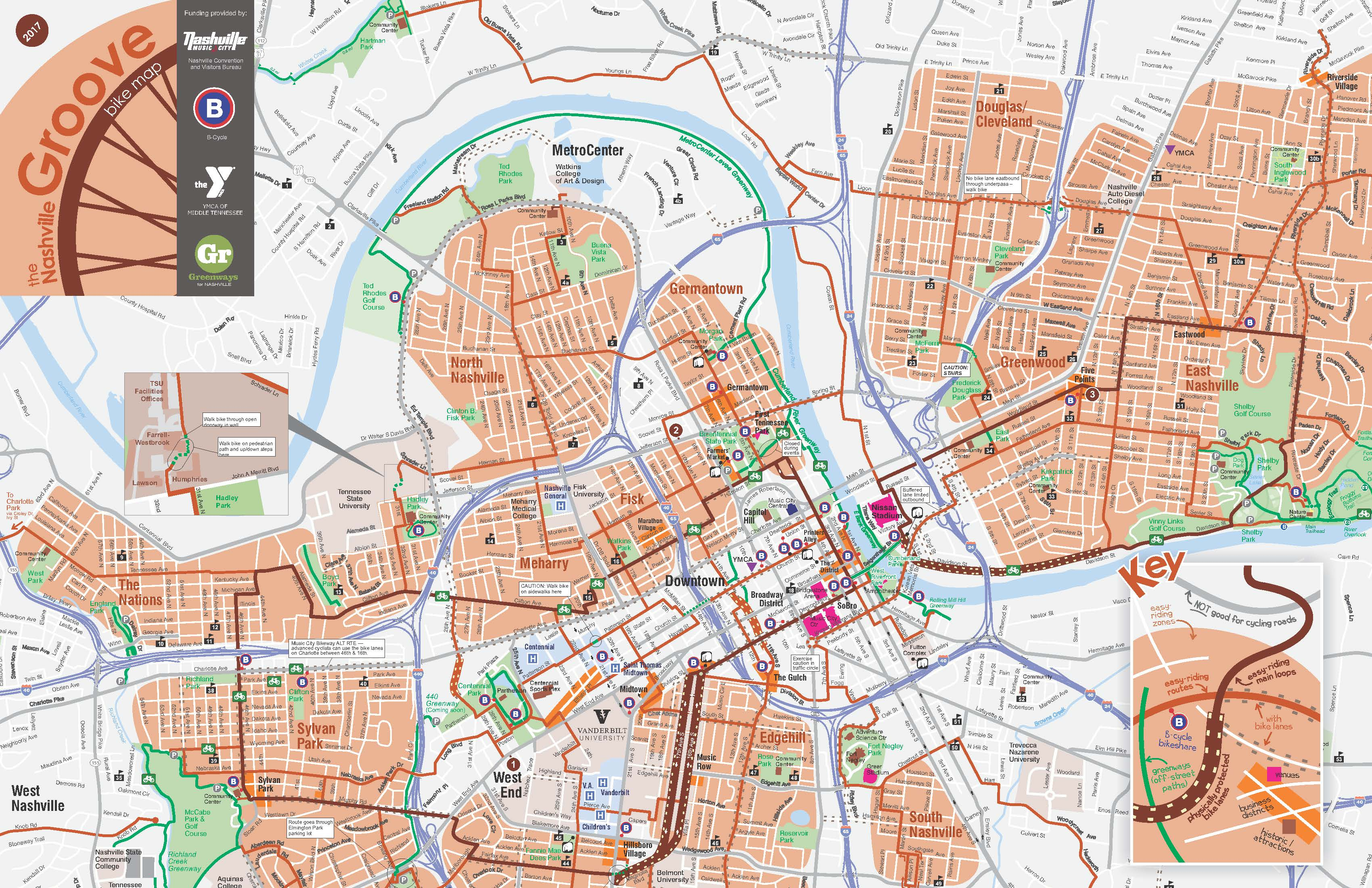 Bike Maps - Walk/Bike Nashville