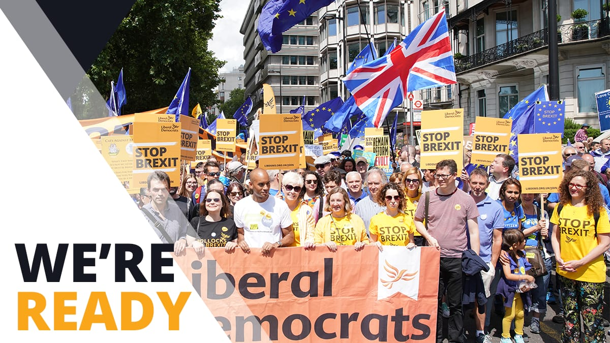 A General Election on 12th December: Vote Liberal Democrat to Stop Brexit