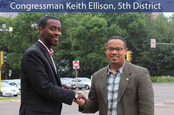 Congressman Keith Ellison Endorses Abdi Warsame
