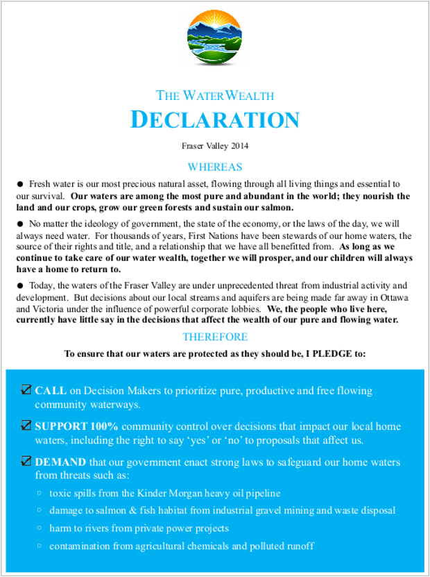 The WaterWealth Declaration