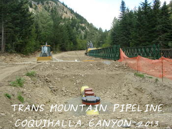 Trans Mountain Pipeline repairs, Coquihalla Canyon