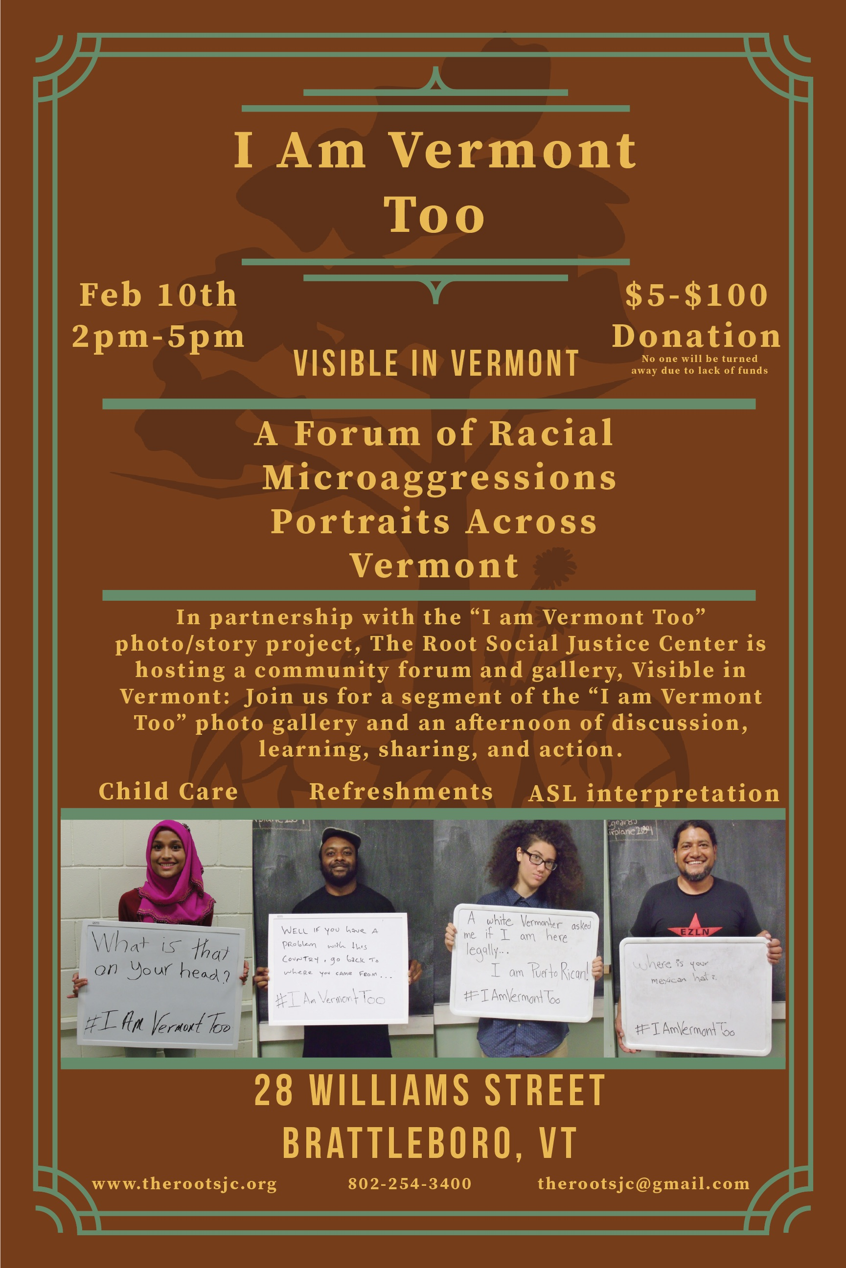 i am vermont too gallery and discussion informational poster