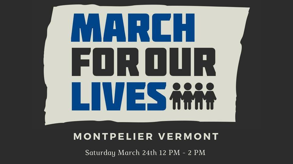 march for our lives logo and montpelier info