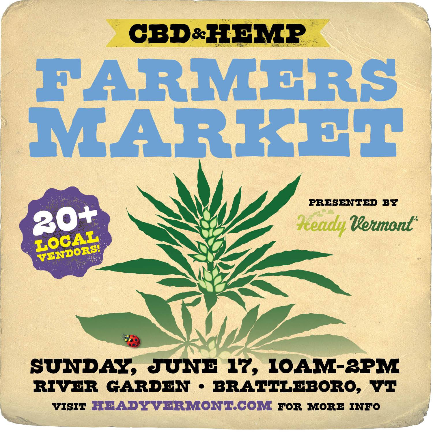 cannabis plant with event information