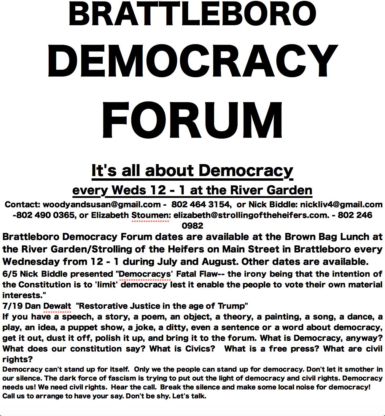 Bratt Forum