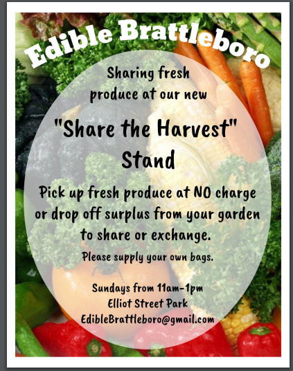 Edible Brattleboro poster