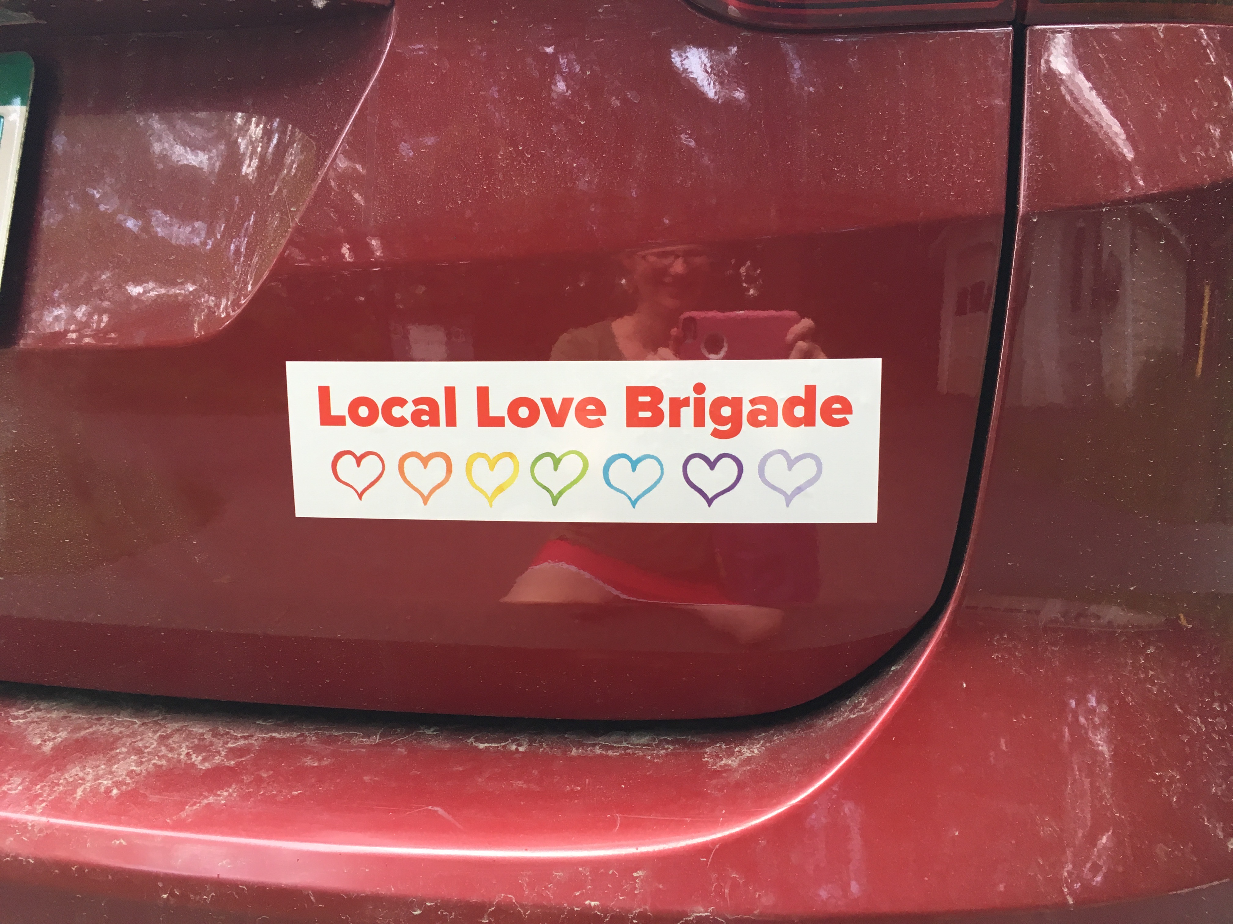 Local Love Brigade bumper sticker