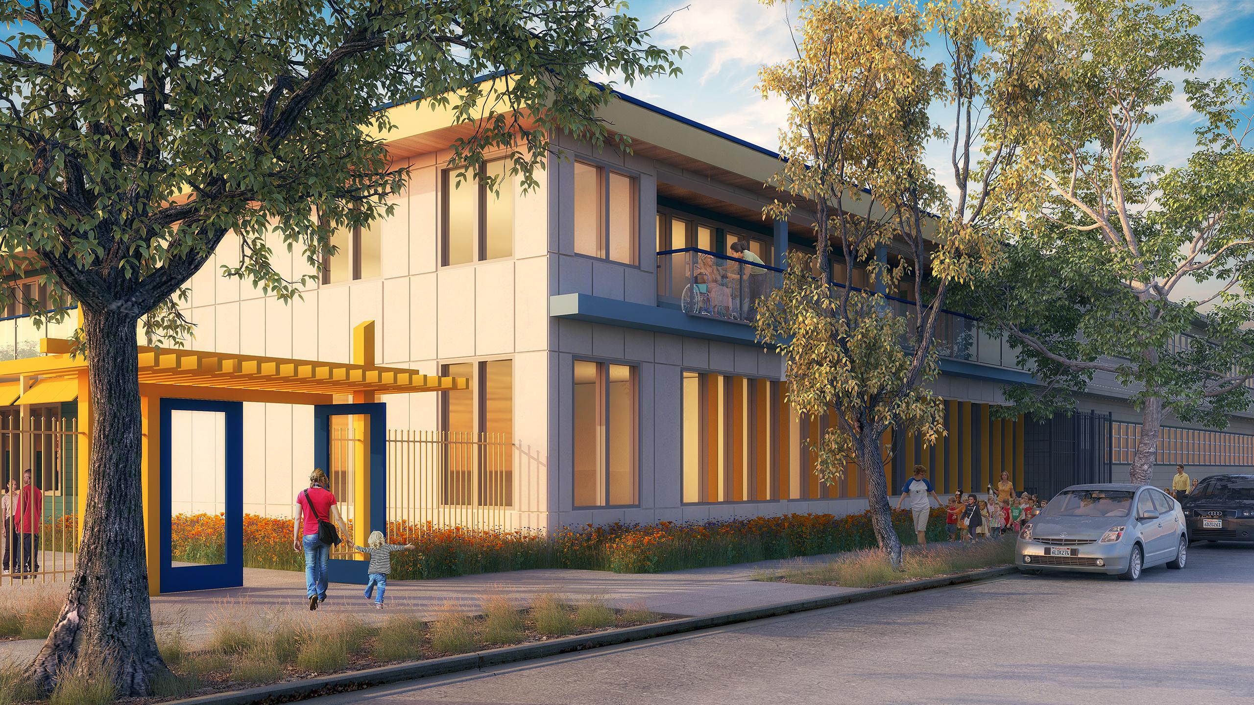 An artist's rendering of the Alameda Wellness Center