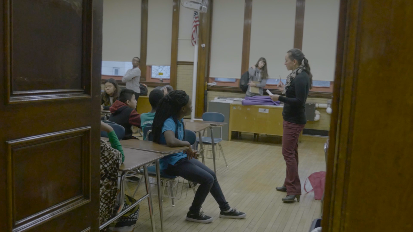 FLY teacher teaching students