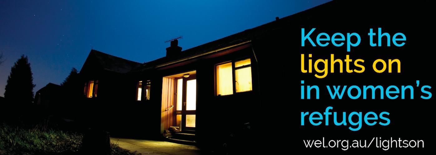 Warm lights in a women's refuge