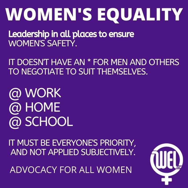 Womens Safety @WORK, HOME, SCHOOL