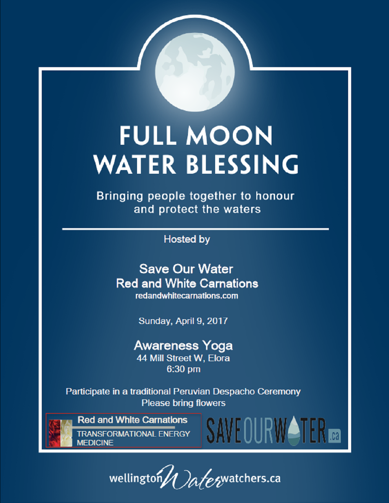 April Full Moon Water Blessing poster