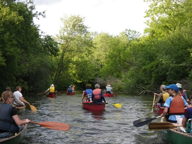 Paddlers on the river