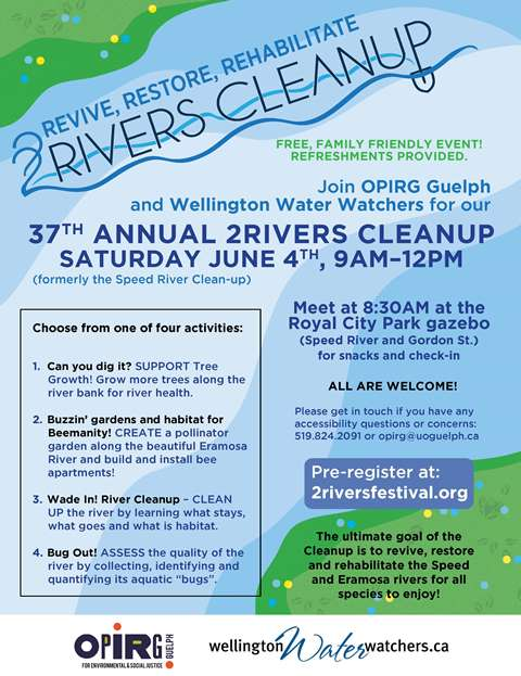 2Rivers CleanUp 2016 poster