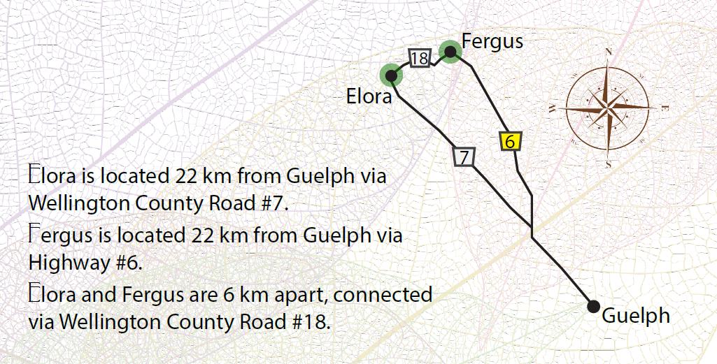 Elora & Fergus map