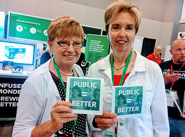 East Zorra-Tavistock Deputy Mayor Maureen Ralph (r) and Woodstock Councillor Connie Lauder