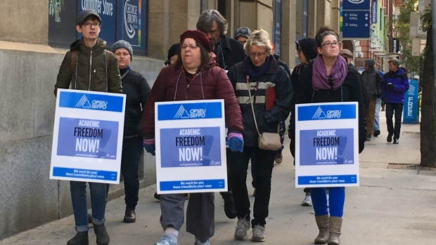 College Faculty on Strike