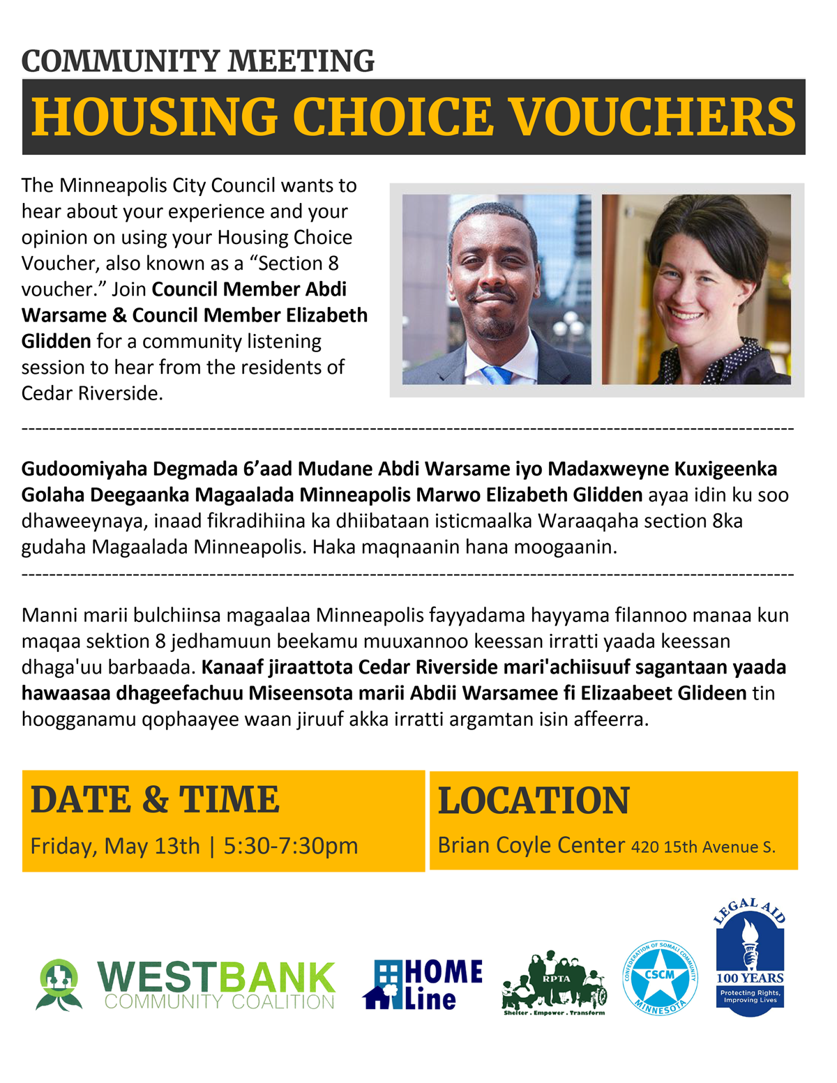 Housing Choice Vouchers Listening Session