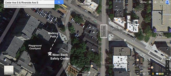 Visual Directions to Cedar Riverside West Bank Safety Center