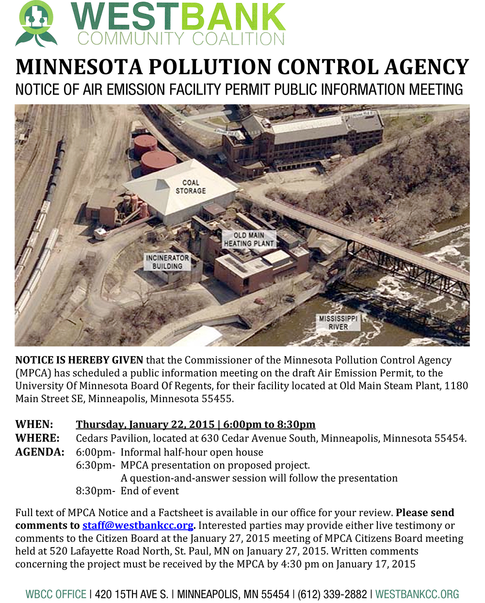 Minnesota Pollution Control Agency's Informational Meeting