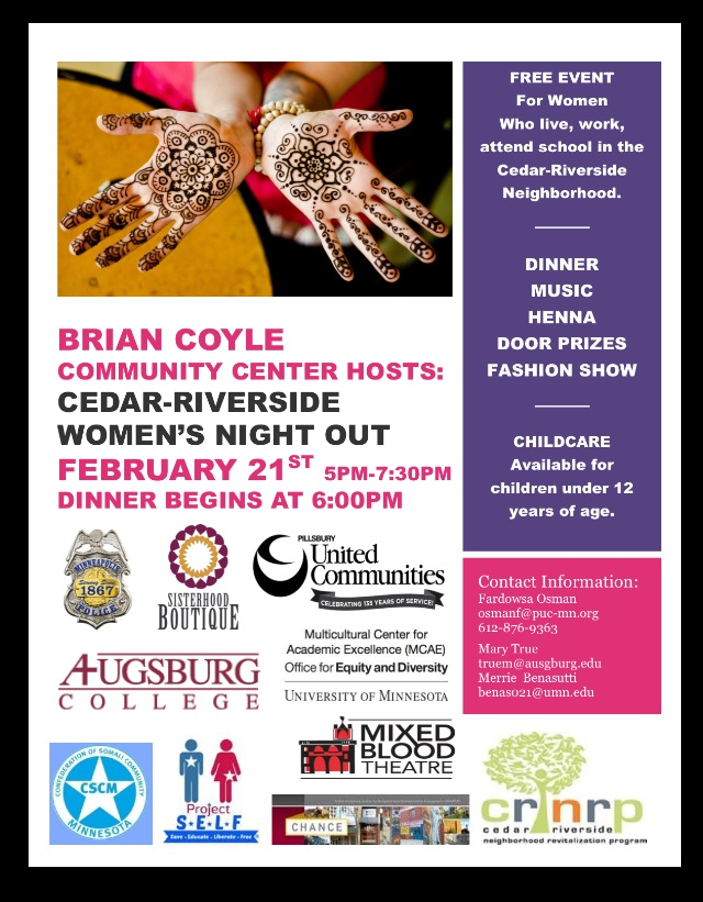 Cedar Riverside Women's Night Out