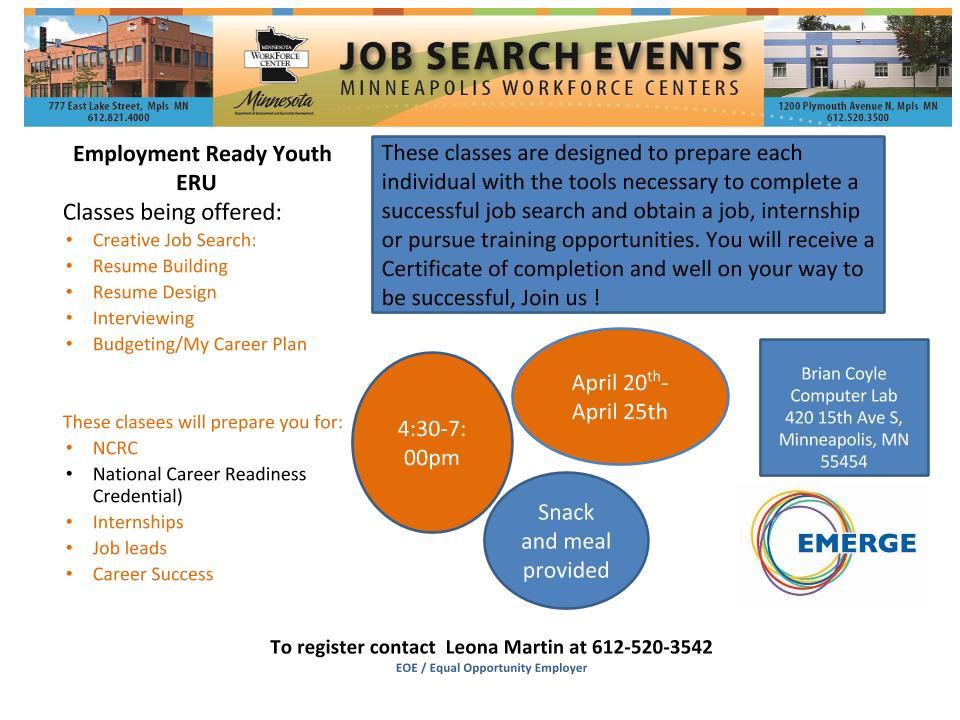 Employment Ready Youth Workshop