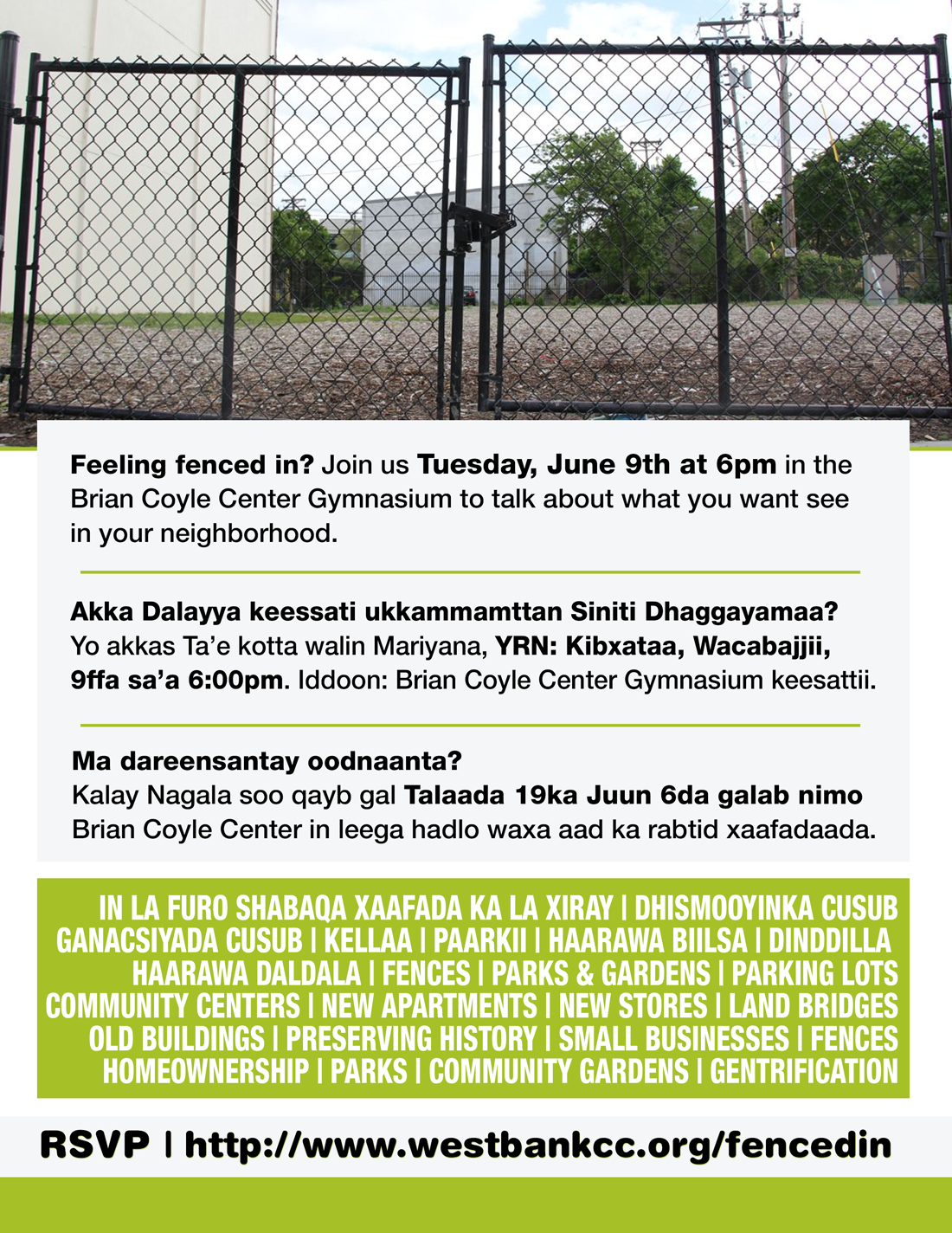 Fenced In? Community Development Meeting