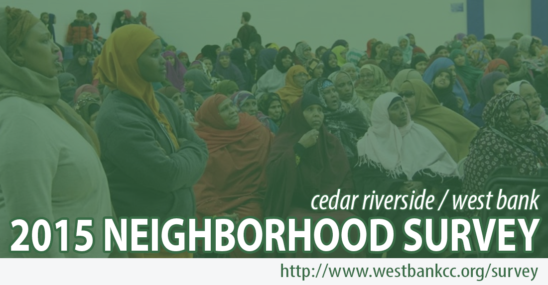 Cedar-Riverside 2015 Neighborhood Survey