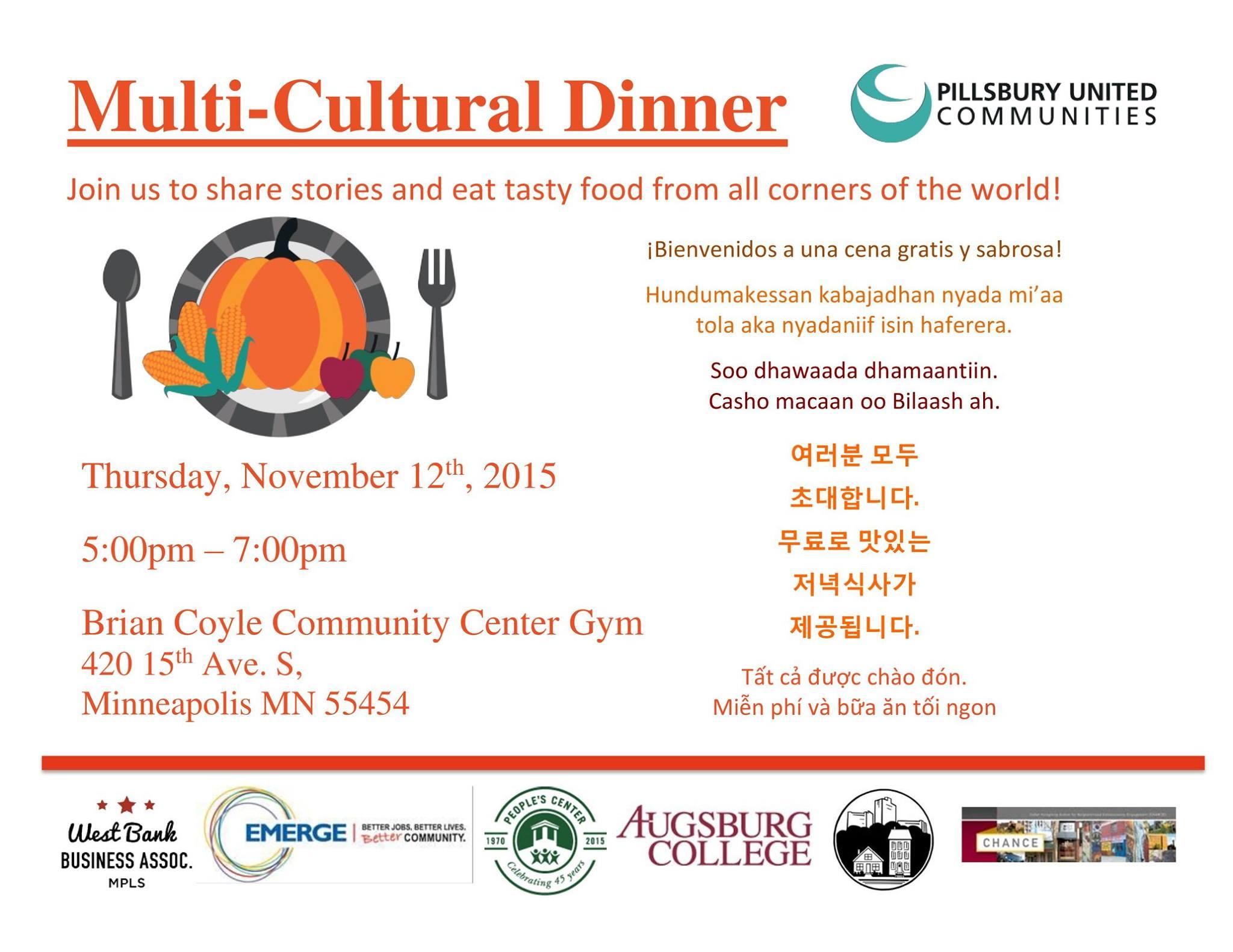 2015 Multi-Cultural Dinner