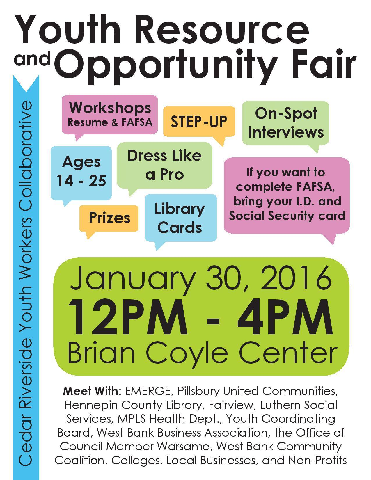 Youth Resources and Opportunity Fair!