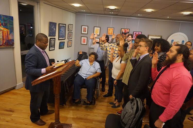 State Senator Brian Benjamin Swearing in the 2017 County Committee Members of the 70th Assembly District, Part D (West Harlem)