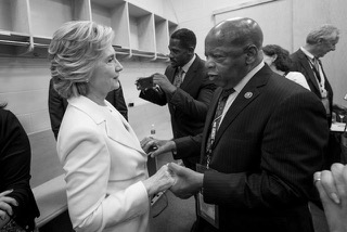 Hillary and John Lewis