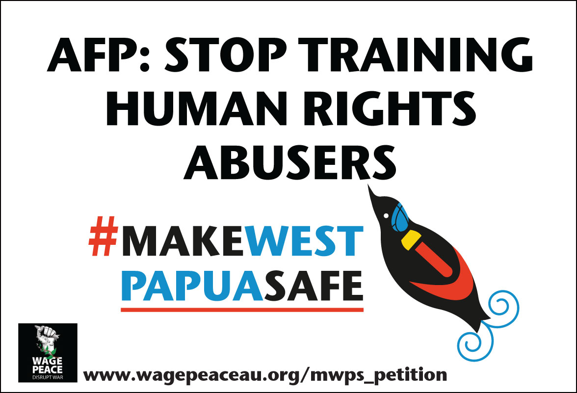 AFP Protest Placard