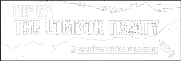 Lombok Treaty 2.7m Outline for Banner painting