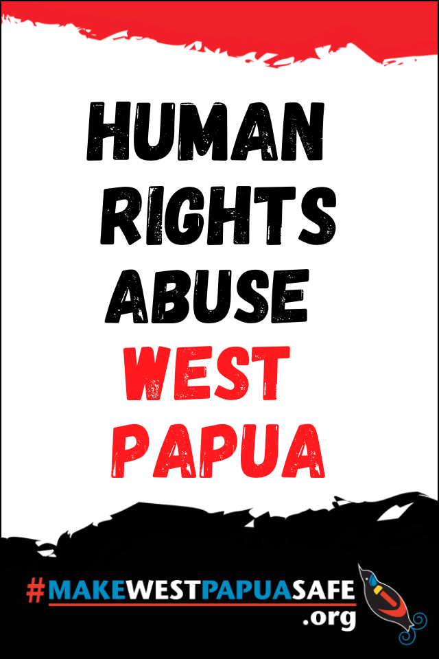 Human Rights abuse West Papua placard