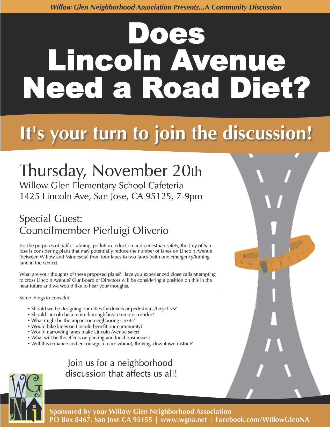 WGNA Lincoln Road Diet Flyer