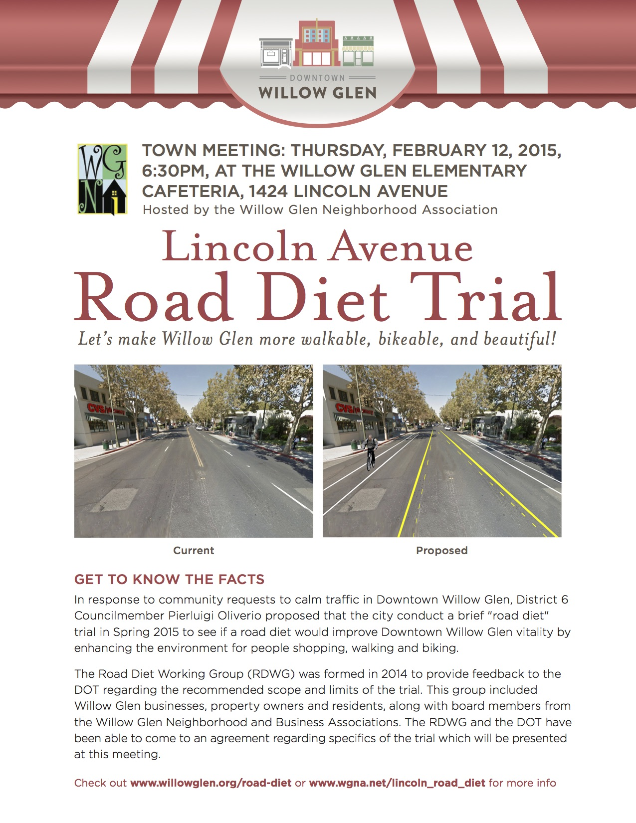Lincoln Road Diet Community Meeting Flyer