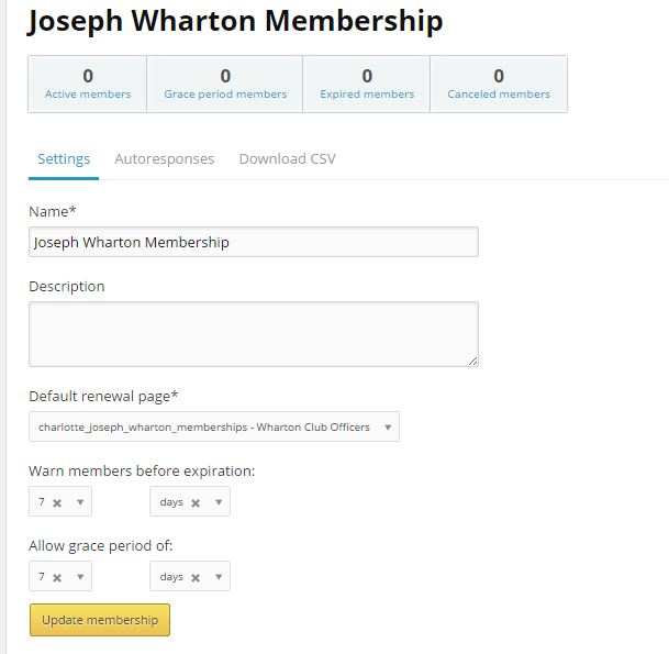 Automatic Membership Renewal Notification - Wharton Club Officers