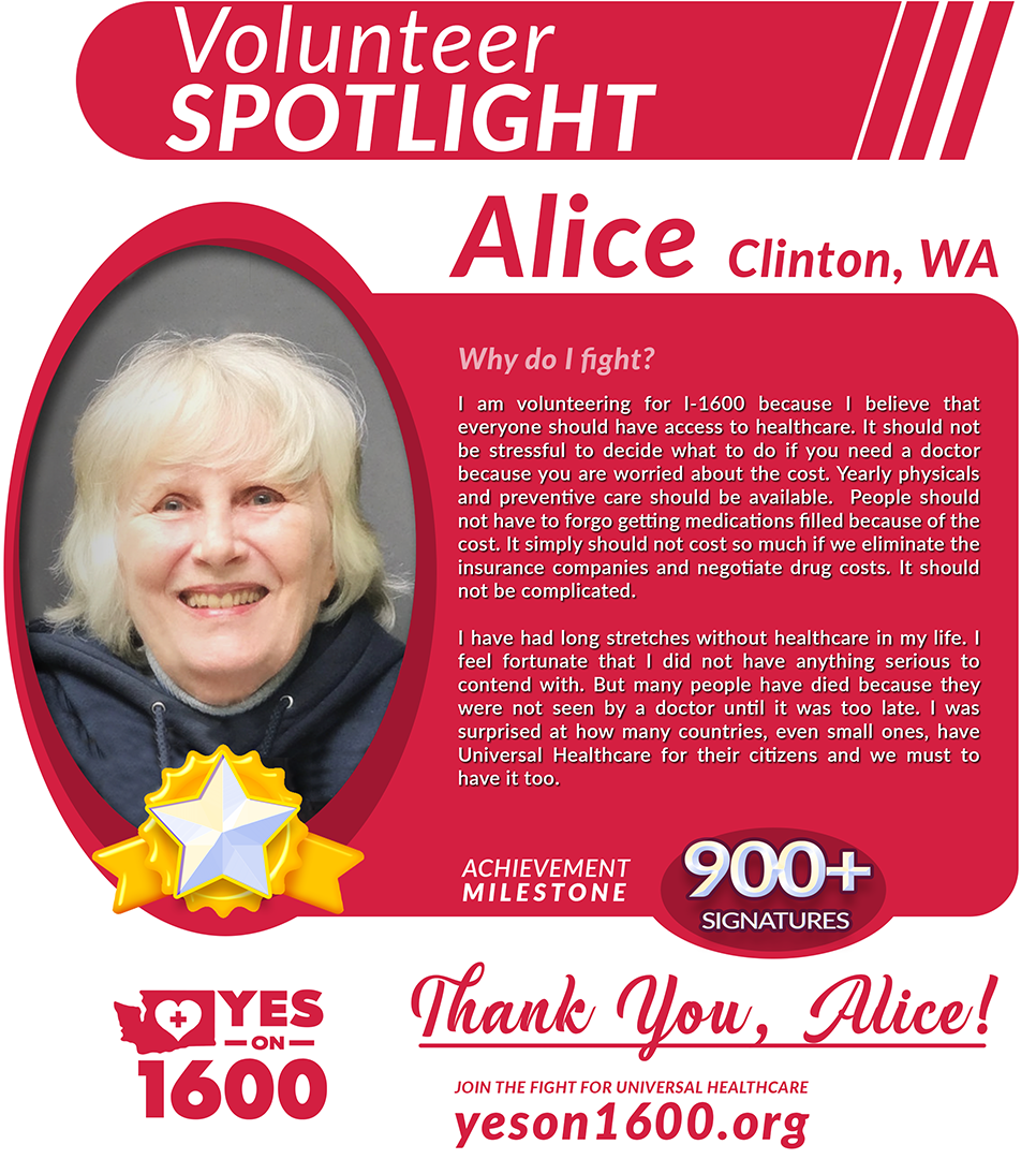 Volunteer Spotlight - Alice from Clinton