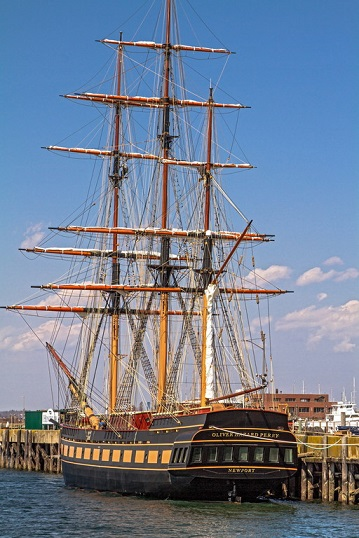 SSV Oliver Hazard Perry will arrive at Fort Adams on Saturday, May 2nd and will be open for public tours the following Saturday through Tuesday.© George Bekris