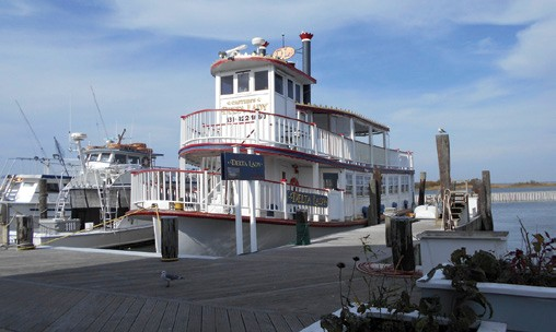 The paddlewheeler Delta Lady based on Great South Bay, Long Island, NY