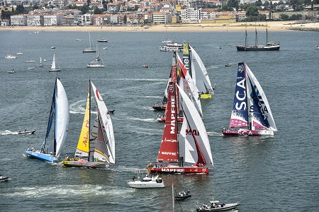 volvo ocean race in port race Lisbon