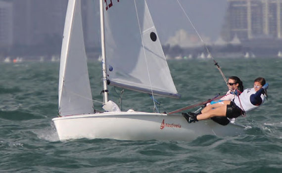 Megan Grapengeter-Rudnick (helm) and Abigail Rohman will represent the USA at the ISAF Youth World Championship. © Michael Rudnick