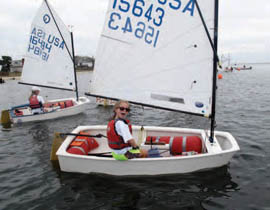 Lauren Krim was very excited about sailing in her first Fall Series. © Marguerite Koehler
