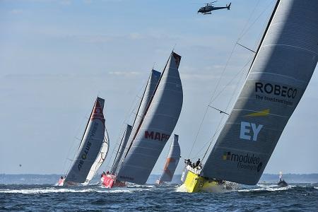 Lorient leg 9 start volvo ocean race