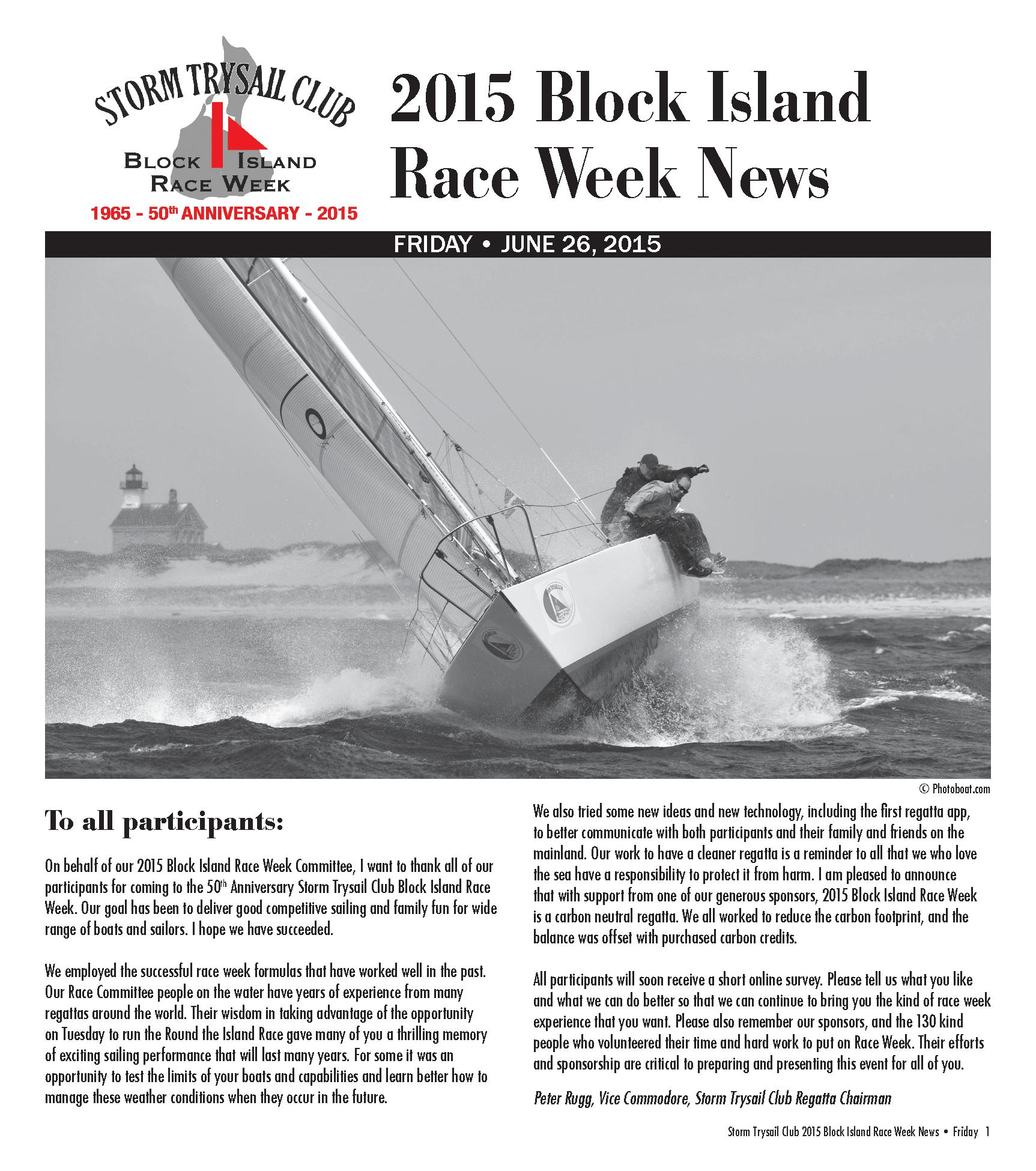 Block Island Race Week News 2015