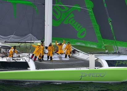 Phaedo3 Transatlantic finish
