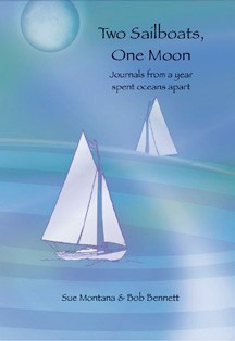 Two Sailboats, One Moon