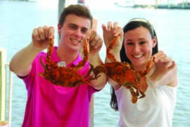 Whether you catch them yourself or order them in a waterfront eatery, be sure to savor some Chesapeake blue crabs. Photo courtesy Chesapeake Bay Outfitters/CBMM